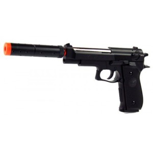 Double Eagle Spring M22 Silenced Pistol FPS-300 Airsoft Gun